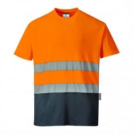 Tricou Bicolor din Bumbac Confort