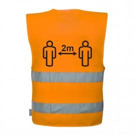 Hi-Vis Social Distancing Vest 2m